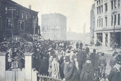 Square After Great Fire of 1908, Chelsea,MA